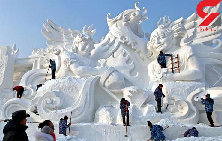 جشنواره تندیسهای یخی در چین