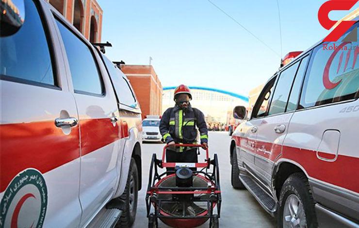 آمبولانس در جاده طبس چپ کرد