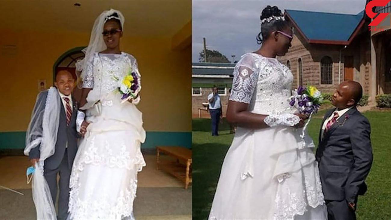 قد عروس دو برابر داماد است! + عکس