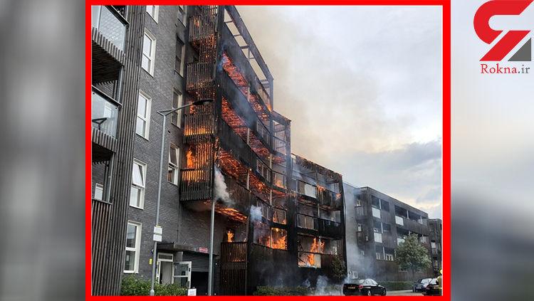 فیلم آتش سوزی مهیب در لندن+ تصویر