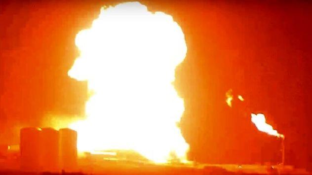 موشک اسپیس ایکس آتش گرفت