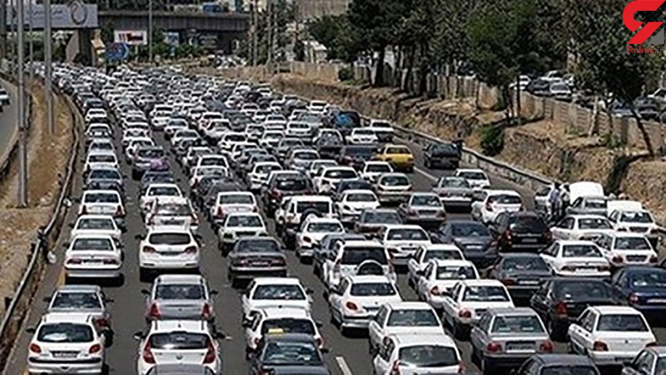 ترافیک صبحگاهی در  آزادراه قزوین_کرج_تهران