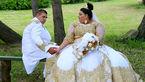 چاق ترین عروس دنیا با لباس میلیونی طلا کاری شده+عکس