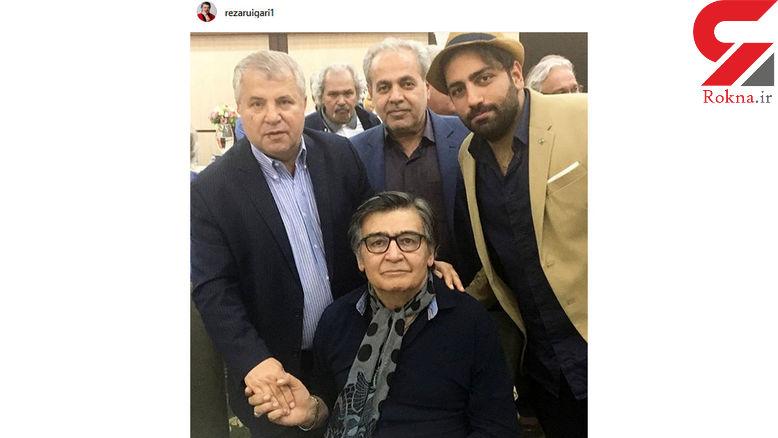 بازیگر معروف مرد در کنار سلطان فوتبال ایران +عکس