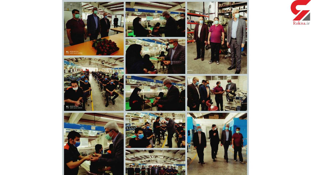 دیدار فرماندار با کارگران مجموعه تولید قطعات خودرو در هشترود