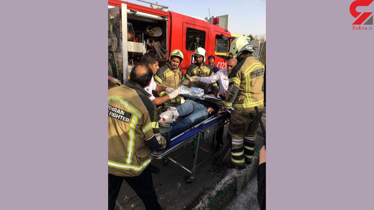 عکس لحظه قطع شدن پای یک تهرانی