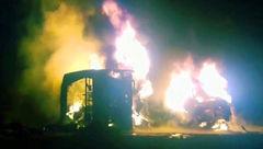 برخورد اتوبوس و تانکر سوخت در بلوچستان 21 کشته برجاگذاشت