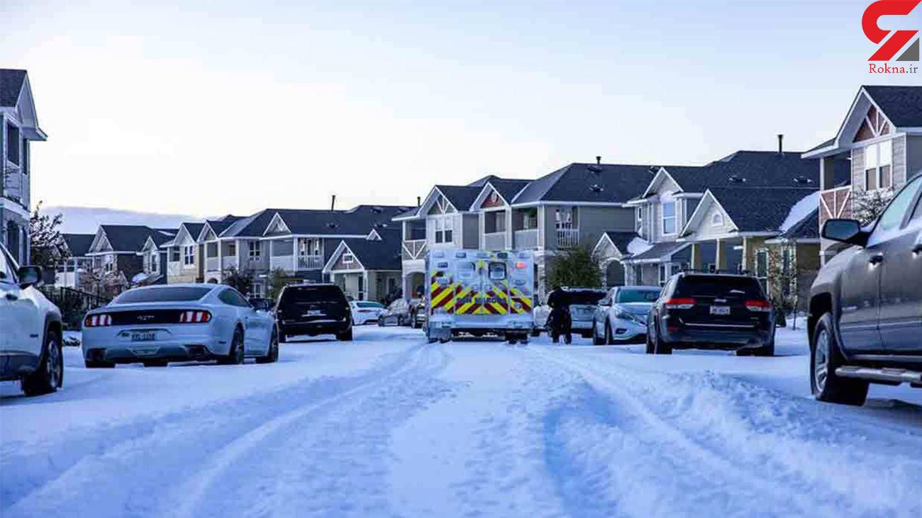 ایالت تگزاس آمریکا در بحران سرما و یخبندان + فیلم و عکس