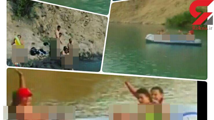 کشف حجاب کامل چند دختر در دریاچه ولشت کلاردشت / تکرار حادثه سد لفور+ عکس