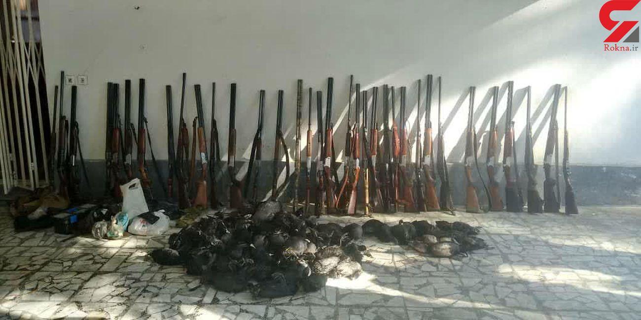 دستگیری 38 شکارچی غیرمجاز در بابل
