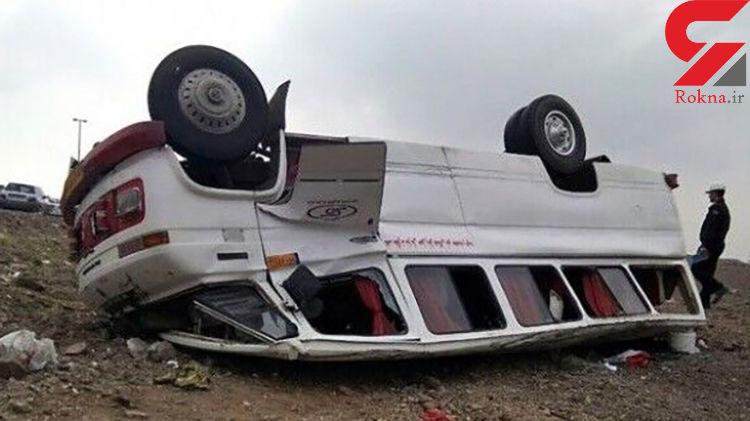 واژگونی مینیبوس در اردکان ۶ زخمی برجا گذاشت