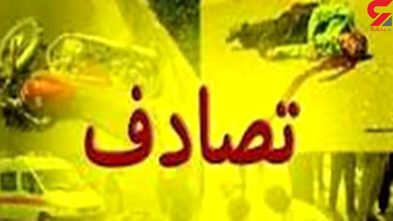 11 مصدوم در حادثه رانندگی محور کنج کوه به مهریز