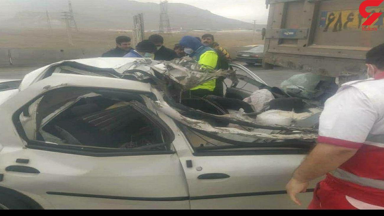 تصادف مرگبار کامیون و ال 90 در قزوین