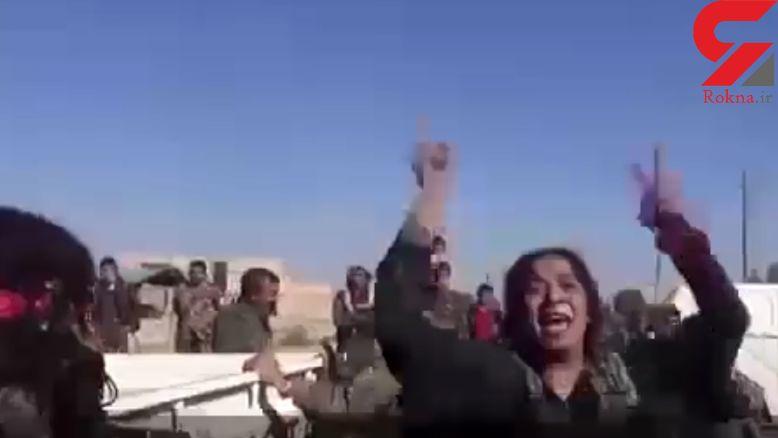 خوشحالی وصف ناشدنی زنان سوری پس از آزادی رقه +فیلم