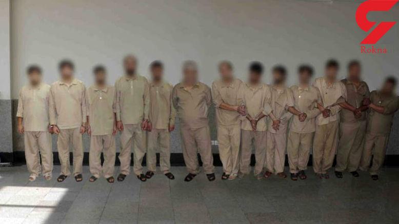 این 13 مردخطرناک در شمال تهران وحشت آفرینی می کردند! / آنها به سمت پلیس هم شلیک کردند ! + عکس