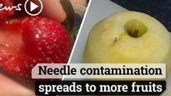 حمله تروریستی با میوه های حاوی سوزن
