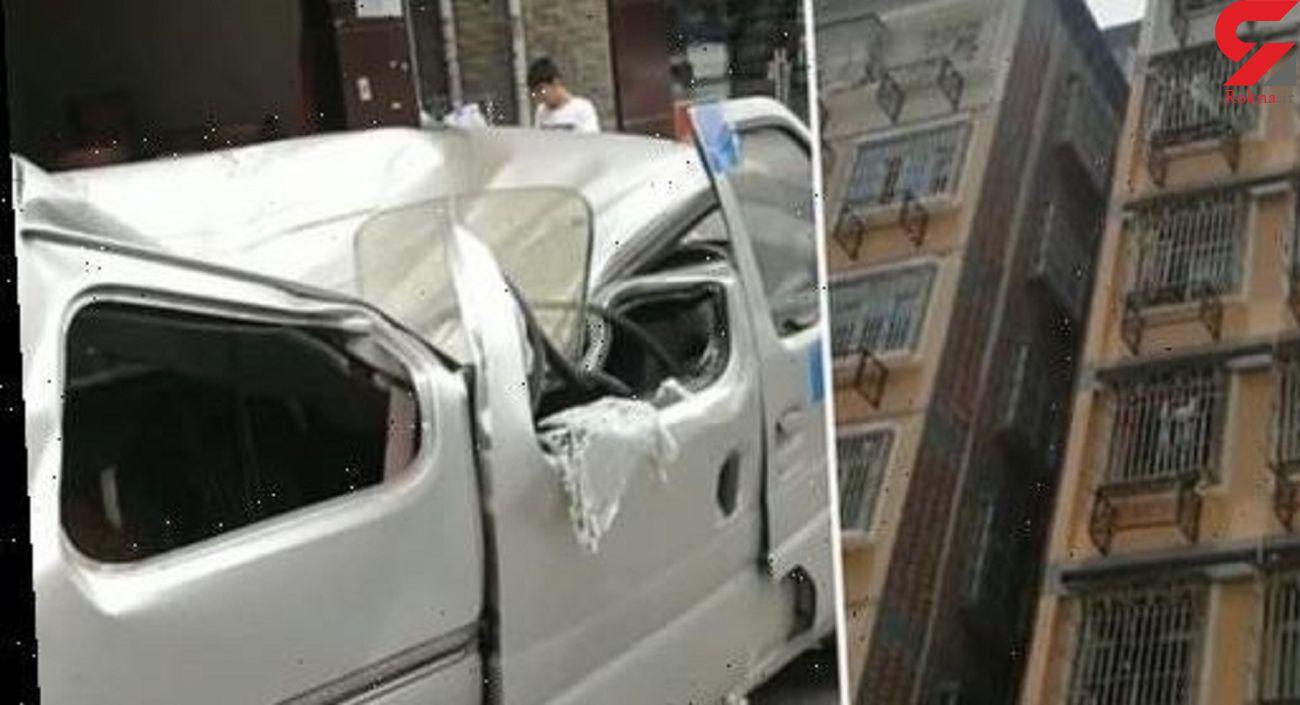 خودکشی جوان 21 ساله از ساختمان 8 طبقه / او روی یک خودرو سقوط کرد + فیلم