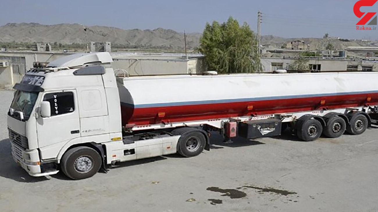 کامیون حامل سوخت قاچاق در استان قزوین متوقف شد