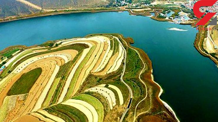این دریاچه زیبا را زلزله پدید آورد! +عکس