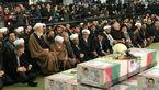 شخصیت های سیاسی حاضر در مراسم تشییع شهدای آتشنشان (+عکس)