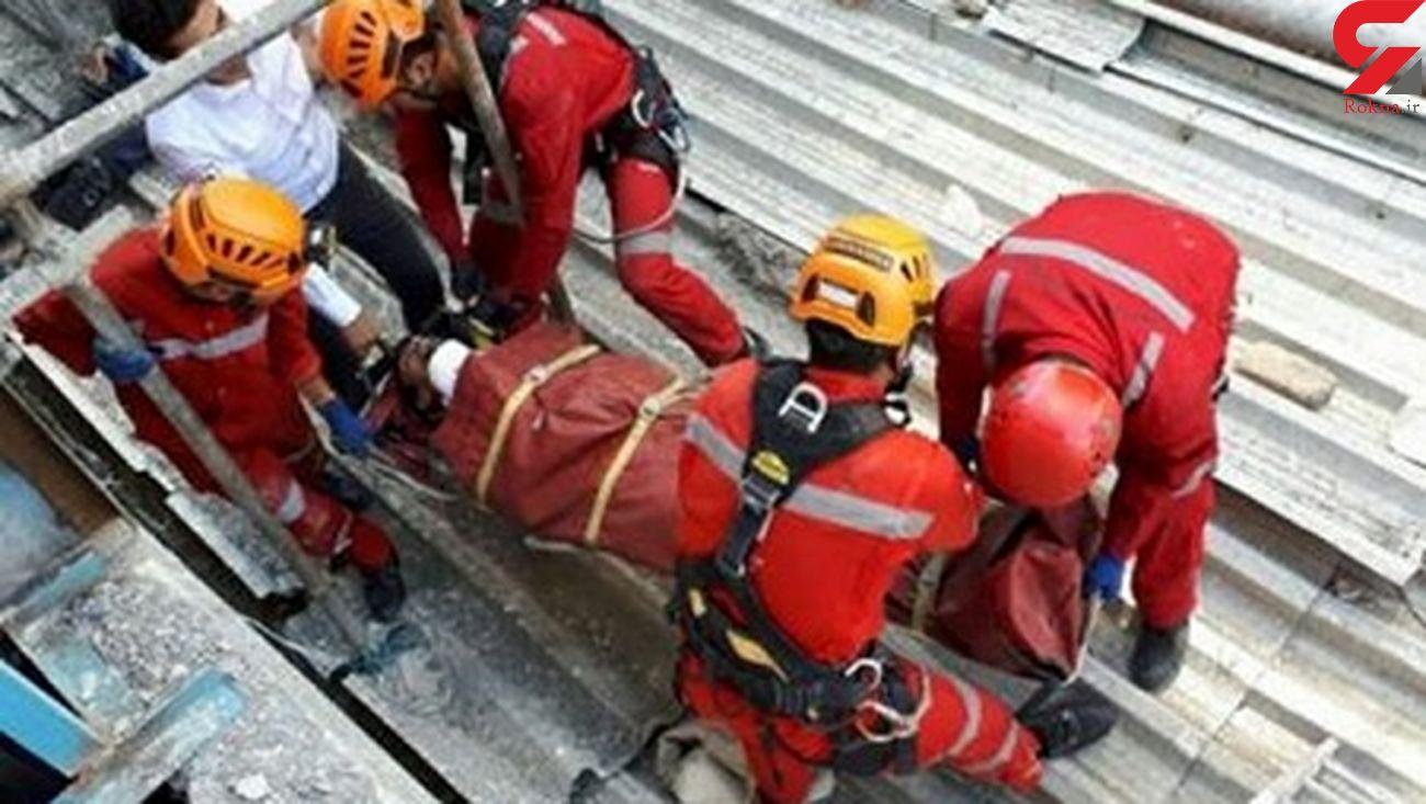 سقوط کارگر ساختمانی به پارکینگ در اهواز