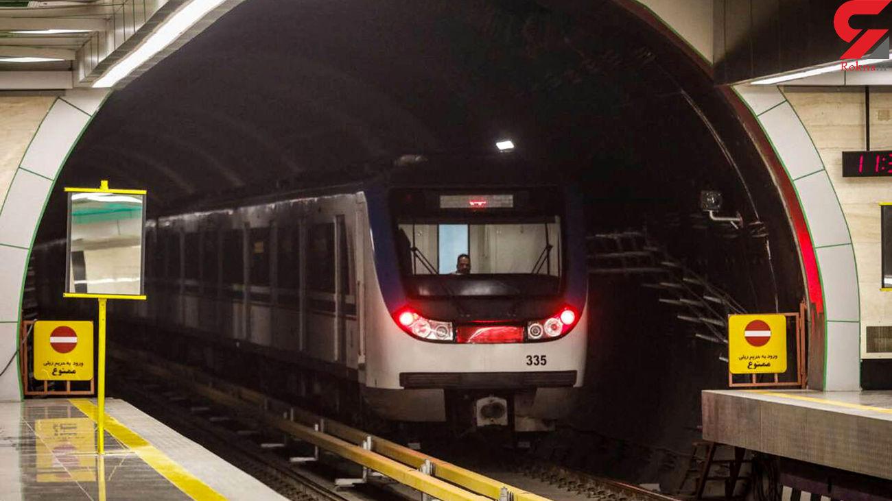 رعایت پروتکل های بهداشتی ضد کرونا در متروی تهران + فیلم