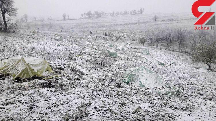 آخرین تلاش برای نجات محصولات کشاورزان از یخبندان +عکس