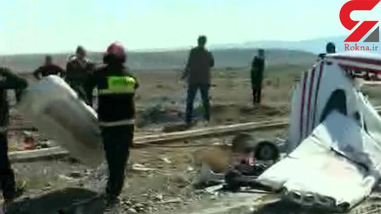اولین تصویر از جسد خلبان پرواز مرگ در کاشمر +فیلم