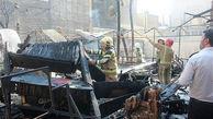 یک کافی شاپ در خیابان حافظ نابود شد