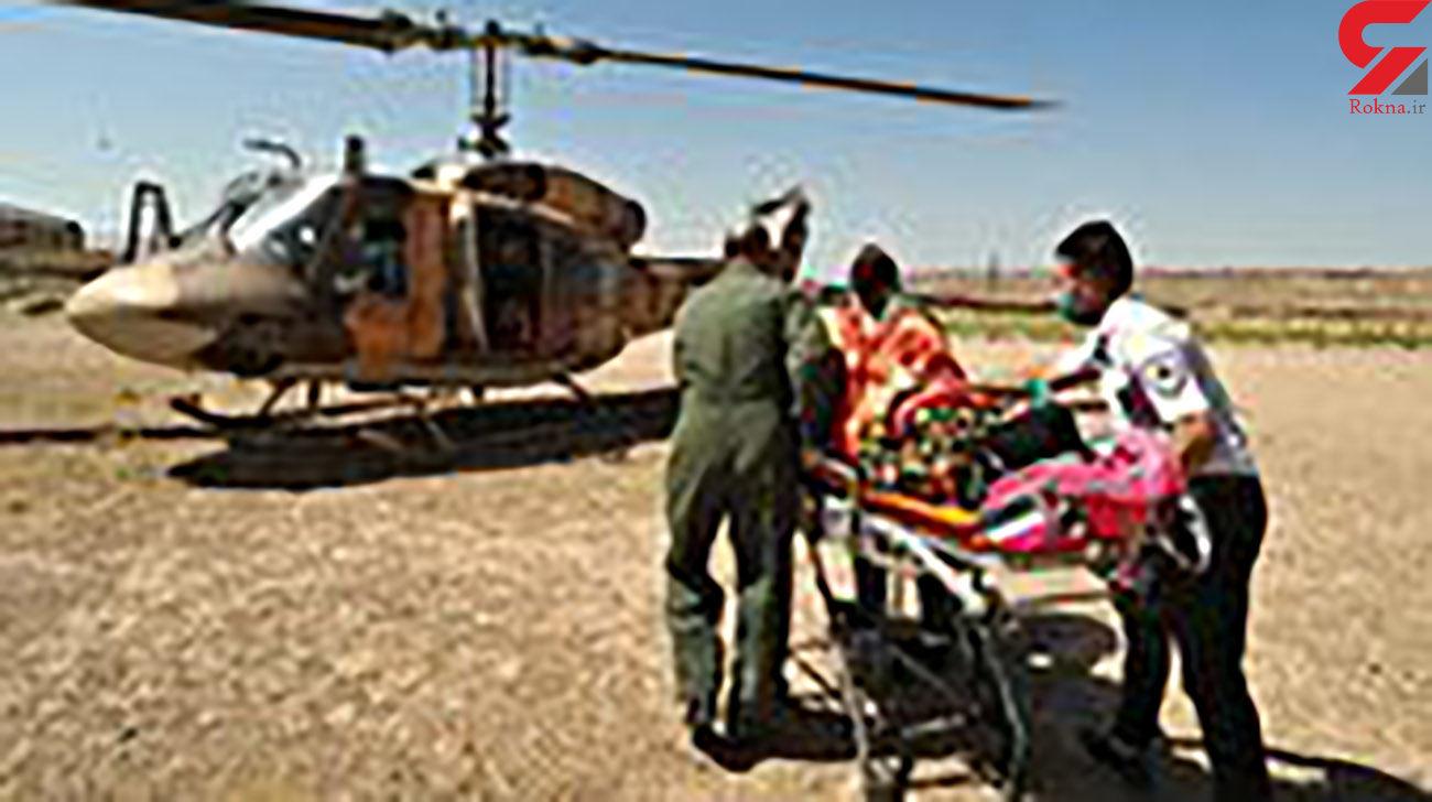 نجات معجزه آسای زن 55 ساله در سقوط از ارتفاع