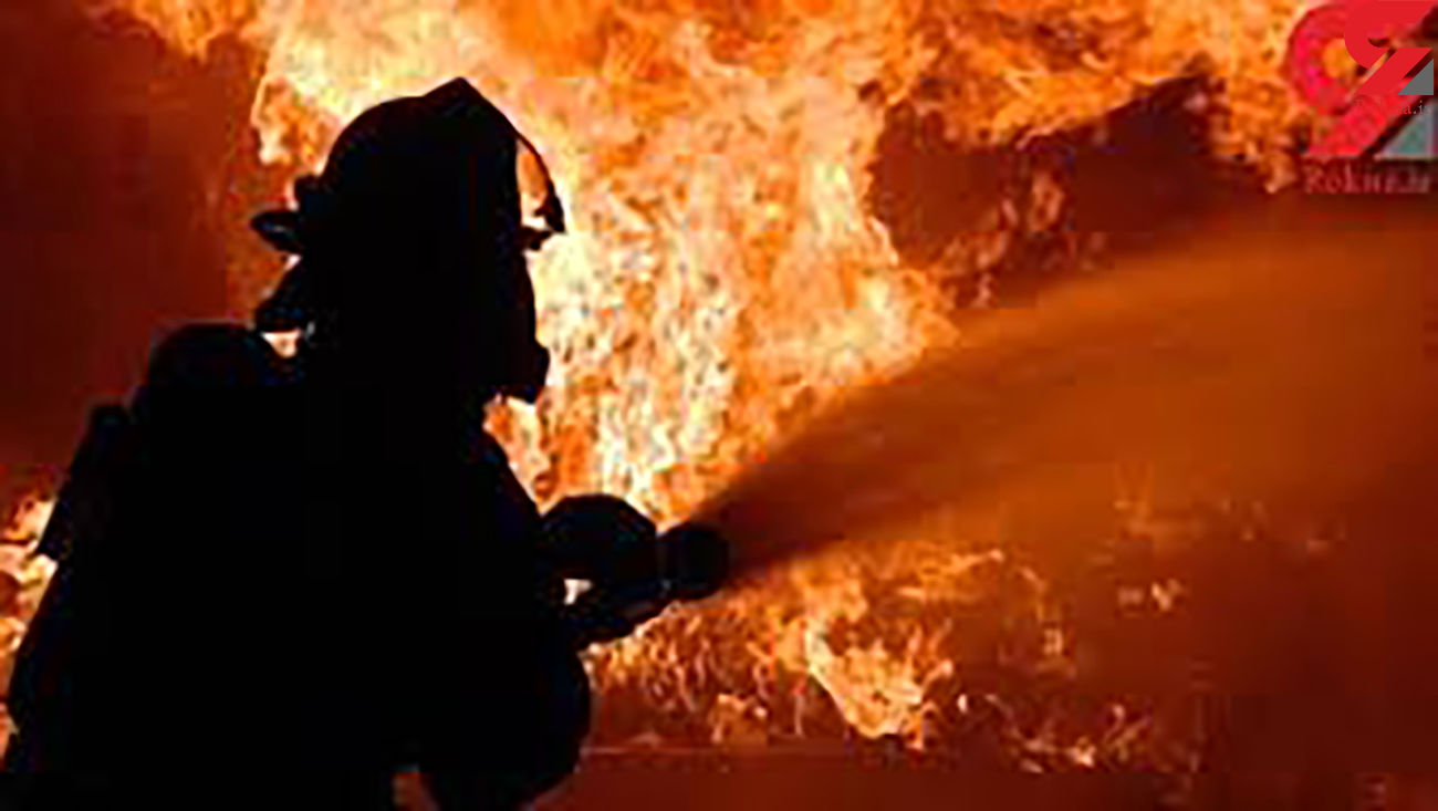آتش سوزی شبانه و هولناک یک مجتمعهای مسکونی در یزد