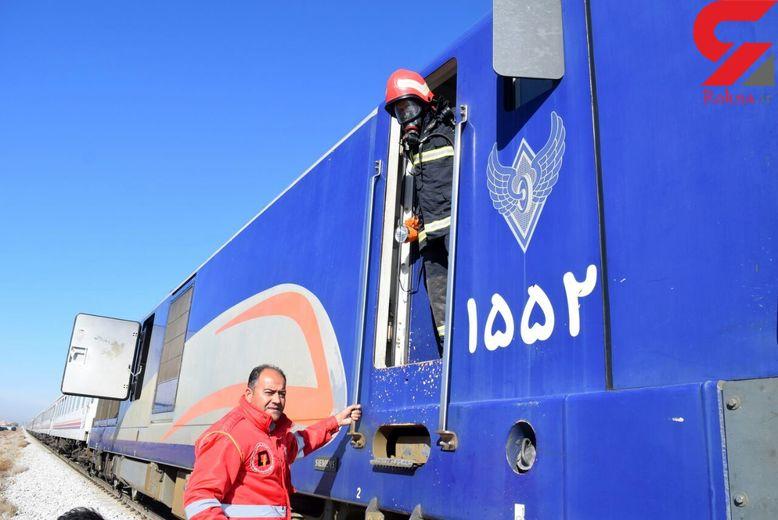 مهار حریق در دیزل قطار مسافربری نیشابور