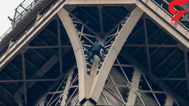 دستگیری مردعنکبوتی بخاطر صعود به برج ایفل+عکس