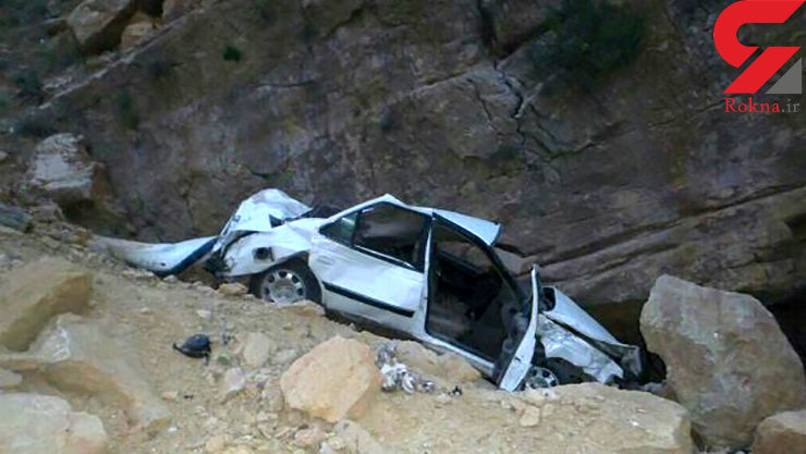 پرواز مرگبار پراید به دره باقرآباد +عکس