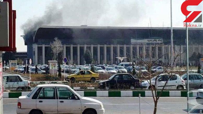 اسباب بازی ساختمان ایستگاه راه آهن مشهد را آتش زد +عکس