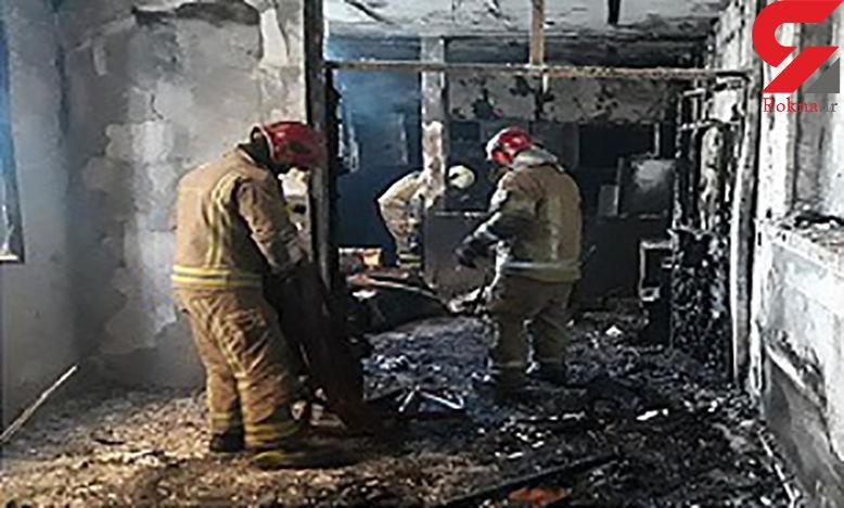یک خانه در بهارستان تهران  آتش گرفت
