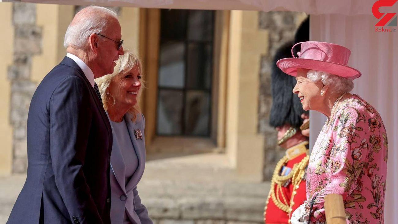 متلک جو بایدن به سن و سال ملکه انگلیس + فیلم