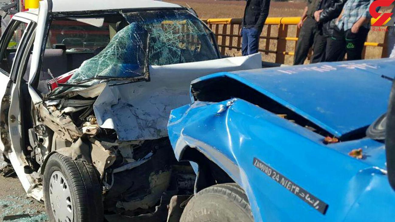 نیسان آبی حادثه آفرید / تصادف مرگبار با 2 کشته در اقلید