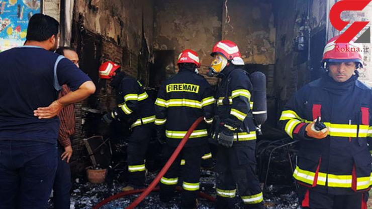 صدای مهیب انفجار یک مغازه در ورامین