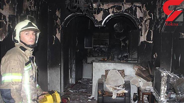 خاکستر شدن خانهای در خاوران + تصاویر