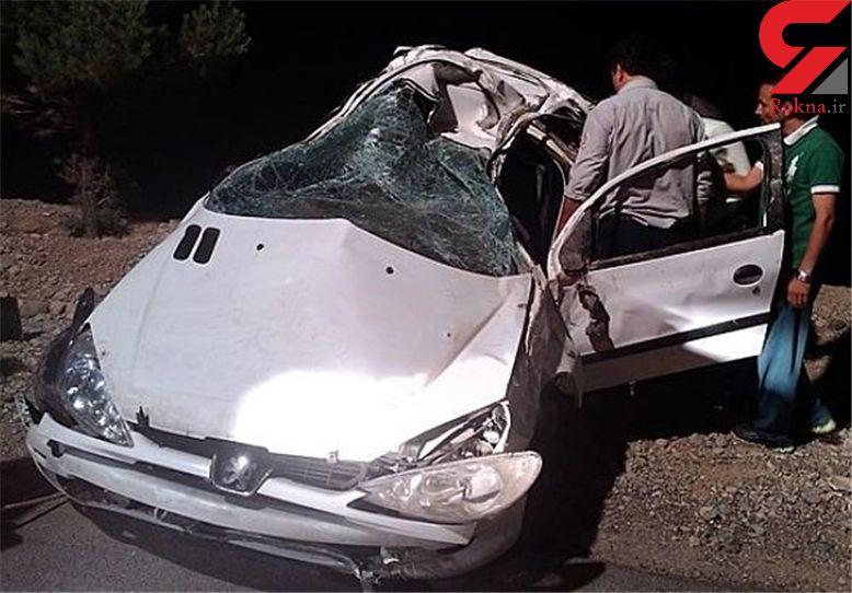 4 کشته در سقوط 206 به دره جاده چالوس