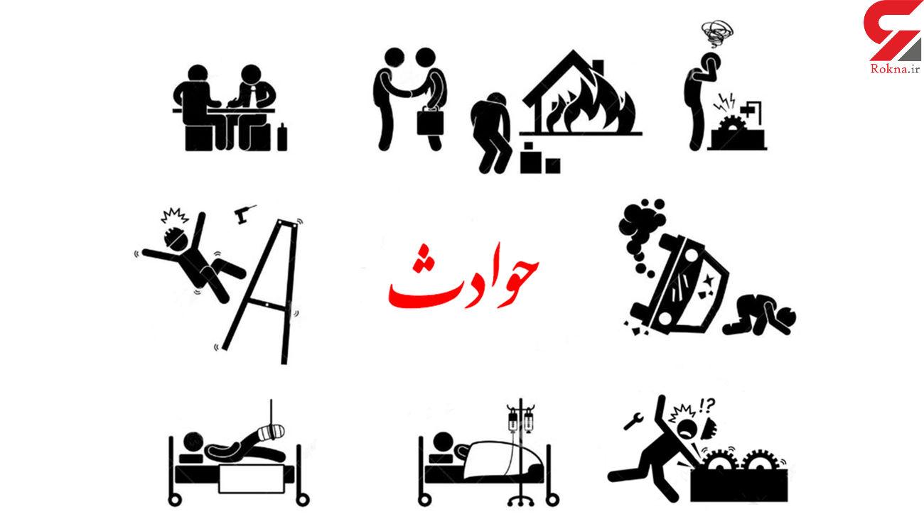 مصدومیت ٩ تن در پی تصادف در محور تهران - قم