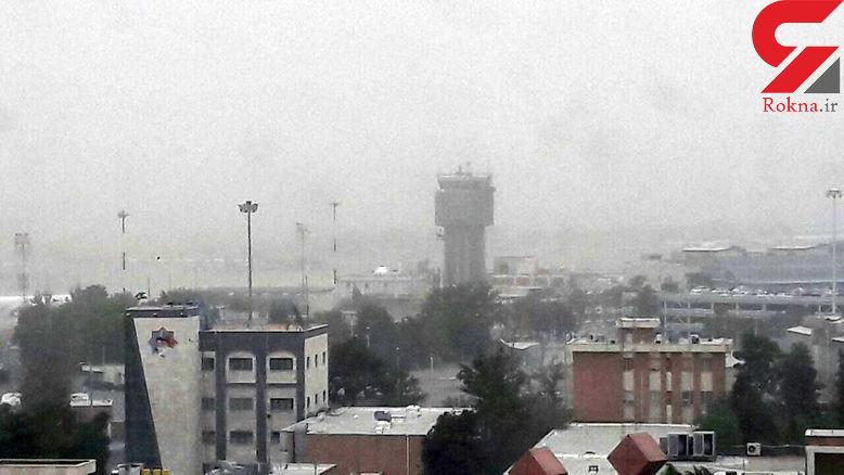 2 حادثه در تندبادهای شامگاهی تهران+عکس