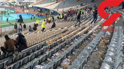 وضعیت تاسفآور سکوهای ورزشگاه آزادی بعد از فینال لیگ قهرمانان