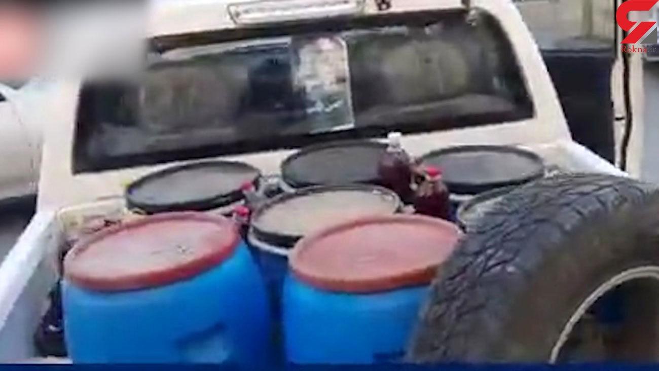 فیلم  تولید مشروبات الکلی در جنوب تهران + جزییات