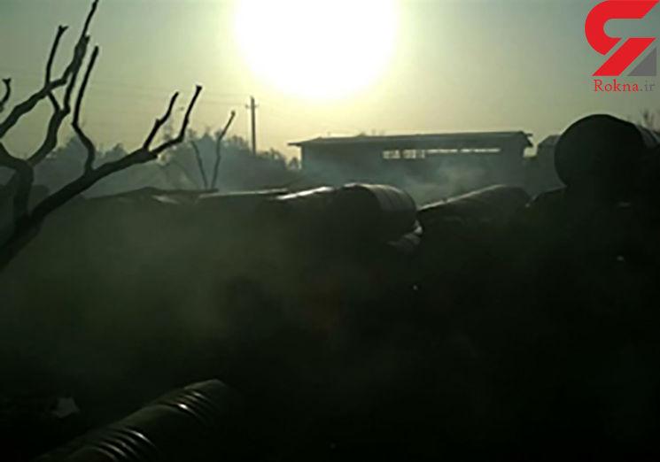 یک کارخانه تولید رنگ در زاهدان آتش گرفت