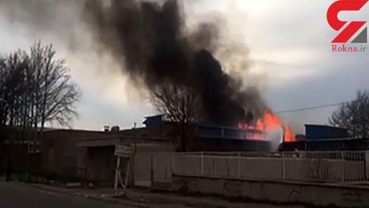 سوختن 6 نفر در آتش سوزی گسترده شرکت ایران چسب+ فیلم