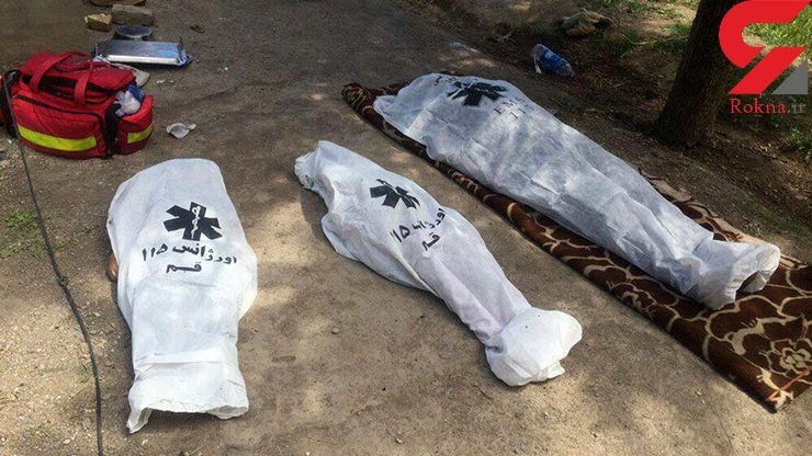 مرگ تلخ مادر قمی و دو فرزندش در استخر خانگی +عکس تلخ