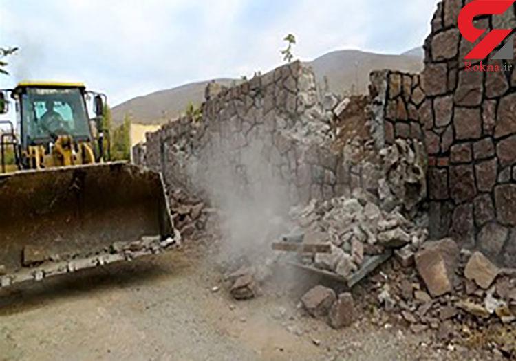 تخریب 3 بنای غیرمجاز در شهرستان قزوین