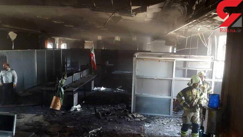 آتش سوزی در ساختمان دلار فردوسی تهران + عکس ها